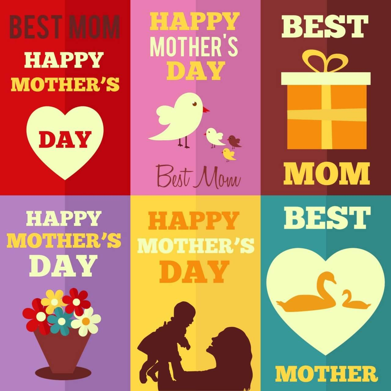 "Free vector ""Retro Mothers Day Cards"""