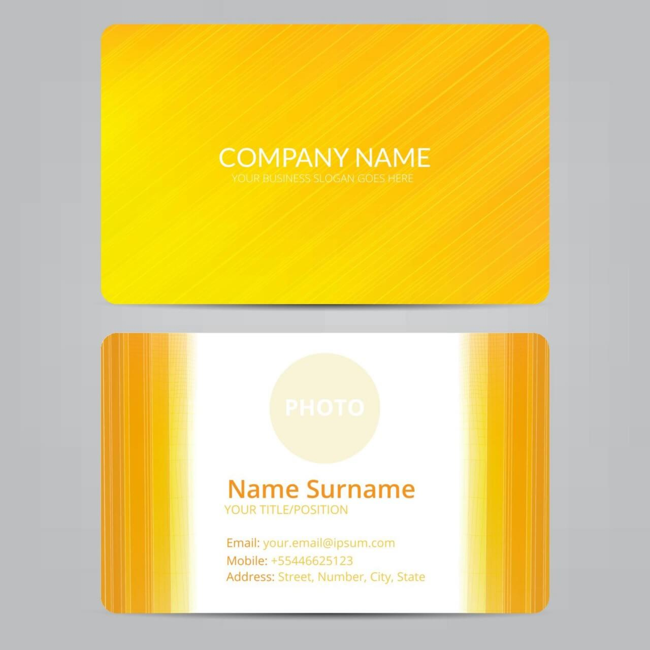 "Free vector ""Orange business card"""