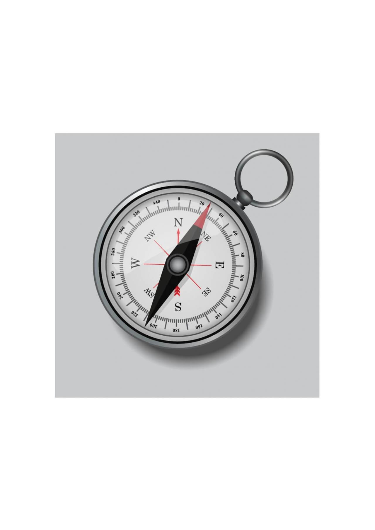 "Free vector ""Compass illustration"""