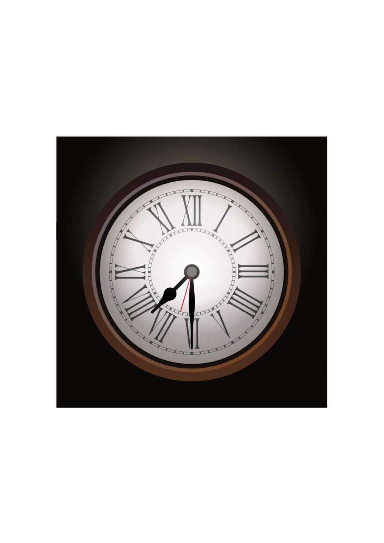 "Free vector ""Wall clock"""