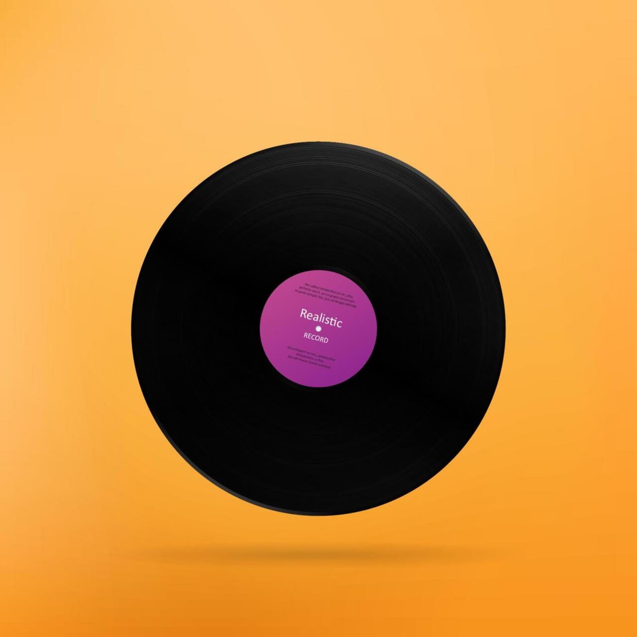 "Free vector ""Realistic Vinyl Record"""
