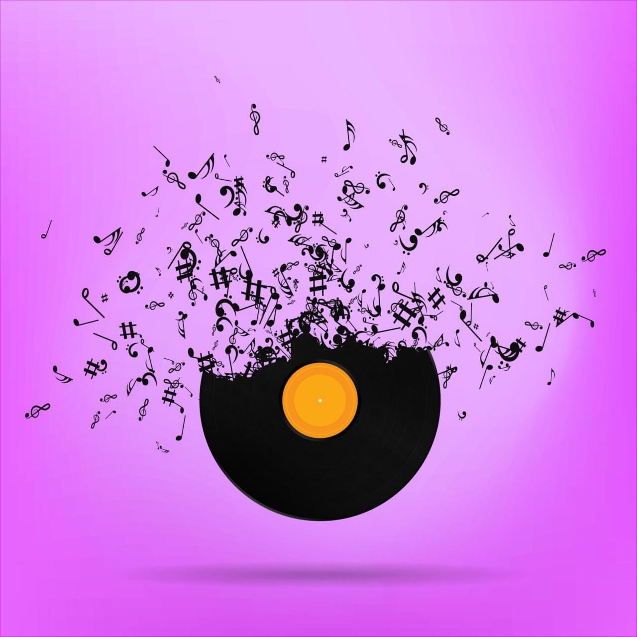 "Free vector ""Vinyl Record Illustration"""