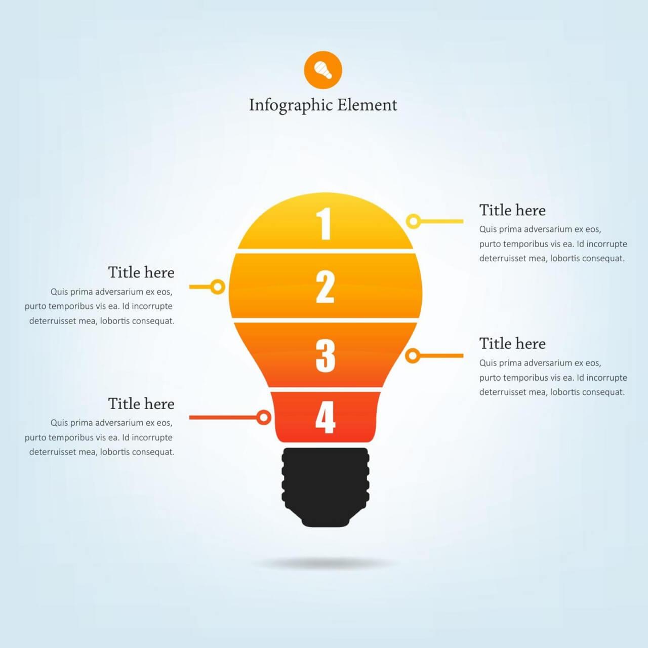 """Free vector """"Lightbulb Infographic"""""""