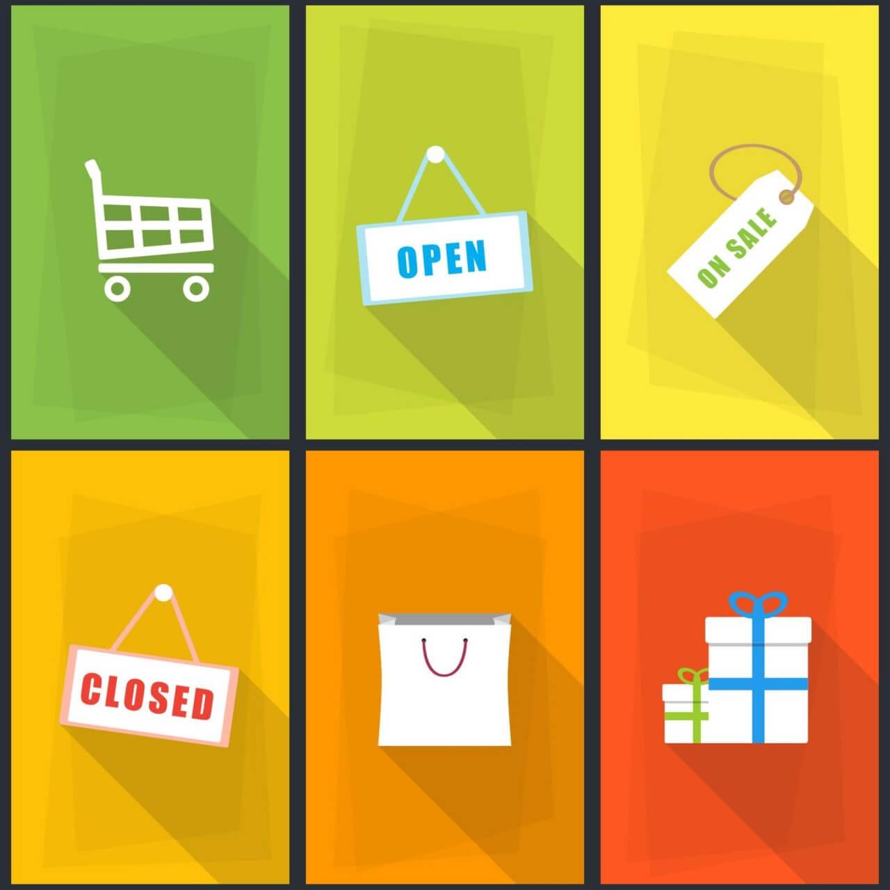 "Free vector ""Vector Shopping Icons"""