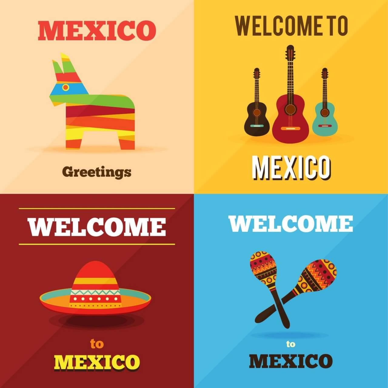"""Free vector """"Welcome to Mexico """""""
