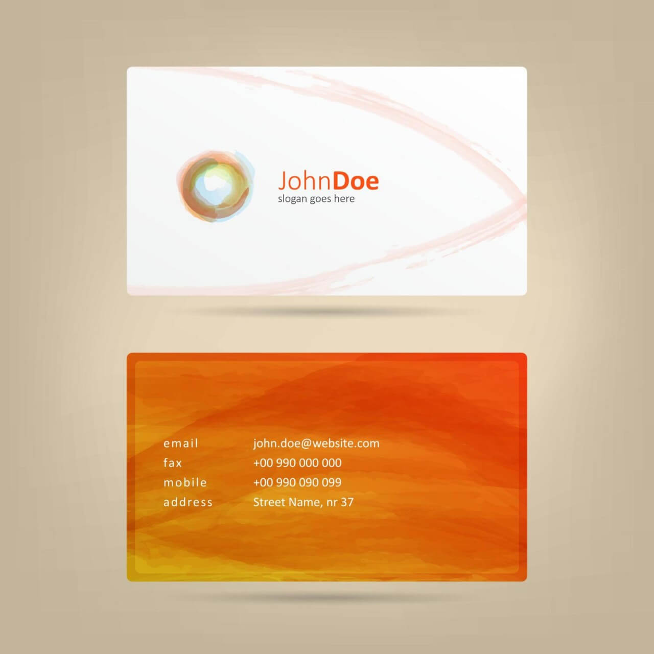 "Free vector ""Watercolor Business Card"""