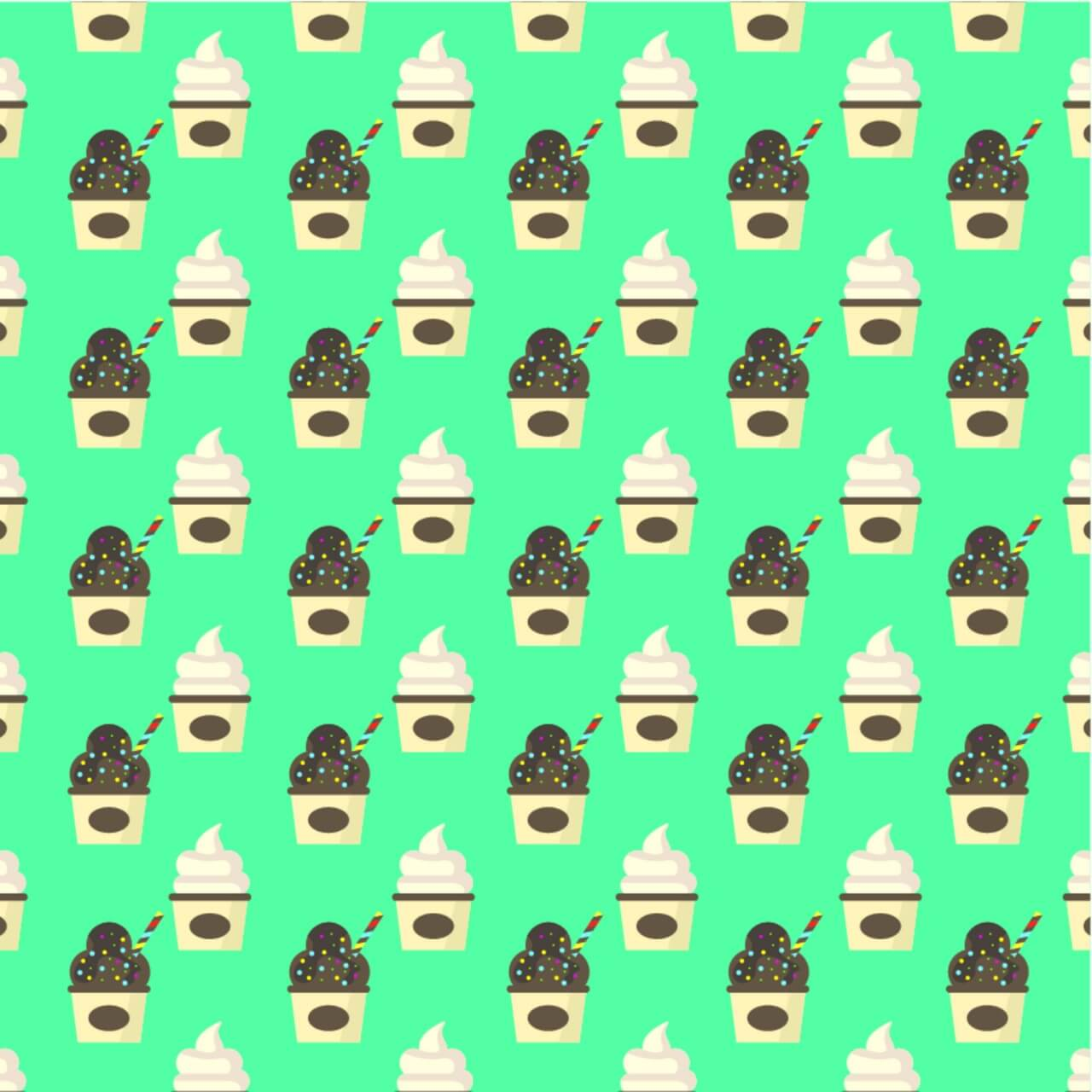 "Free vector ""Ice Cream Pattern Background"""