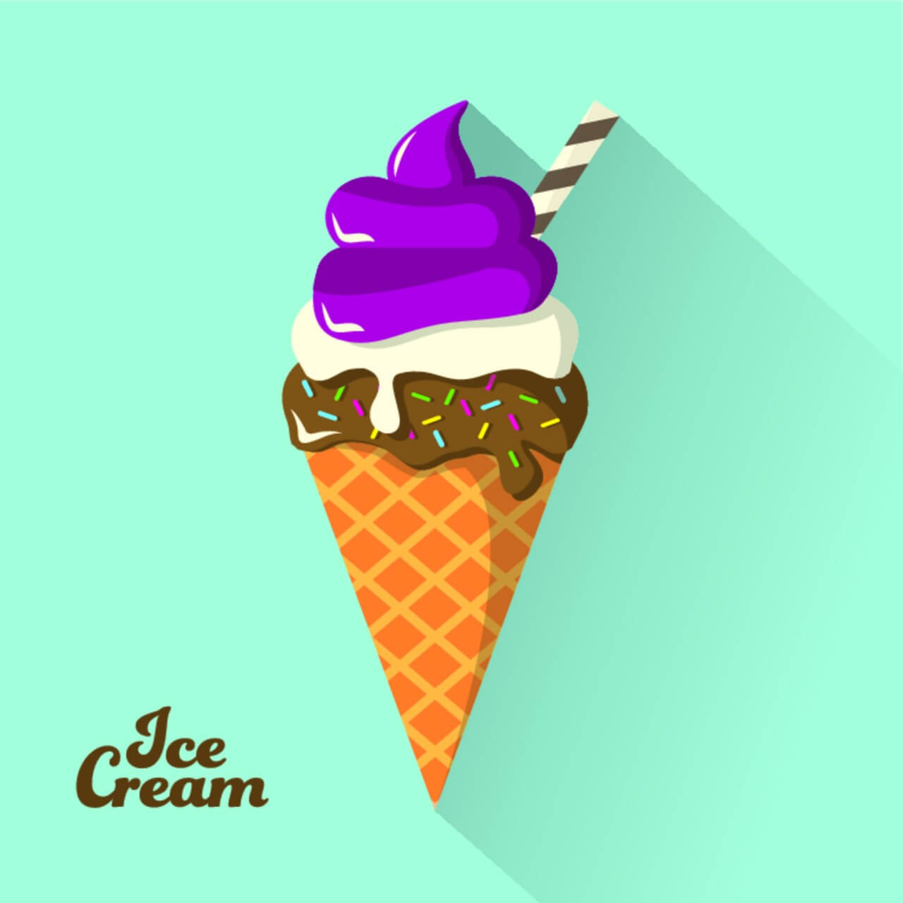 "Free vector ""Ice Cream Background"""