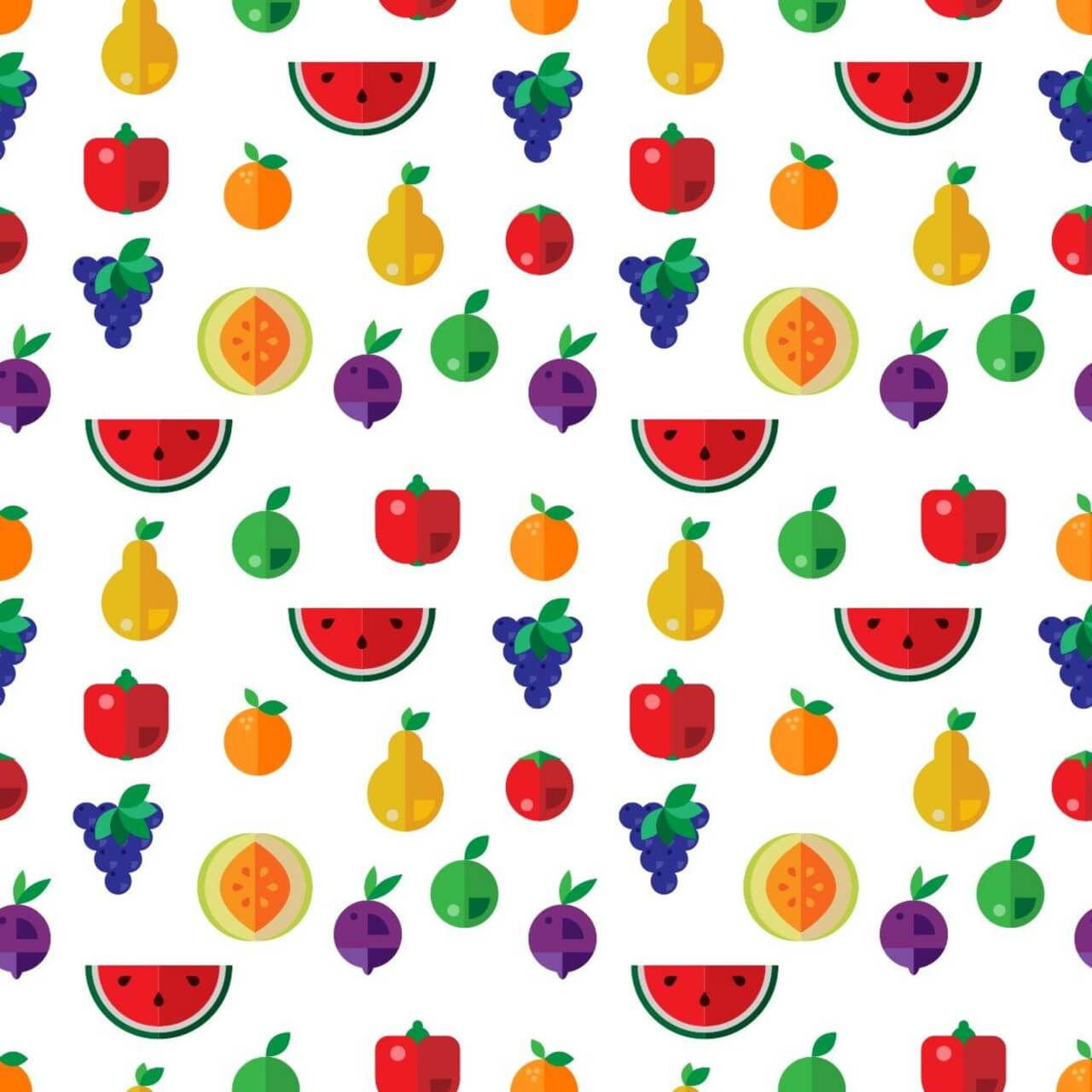 "Free vector ""Food seamless pattern"""