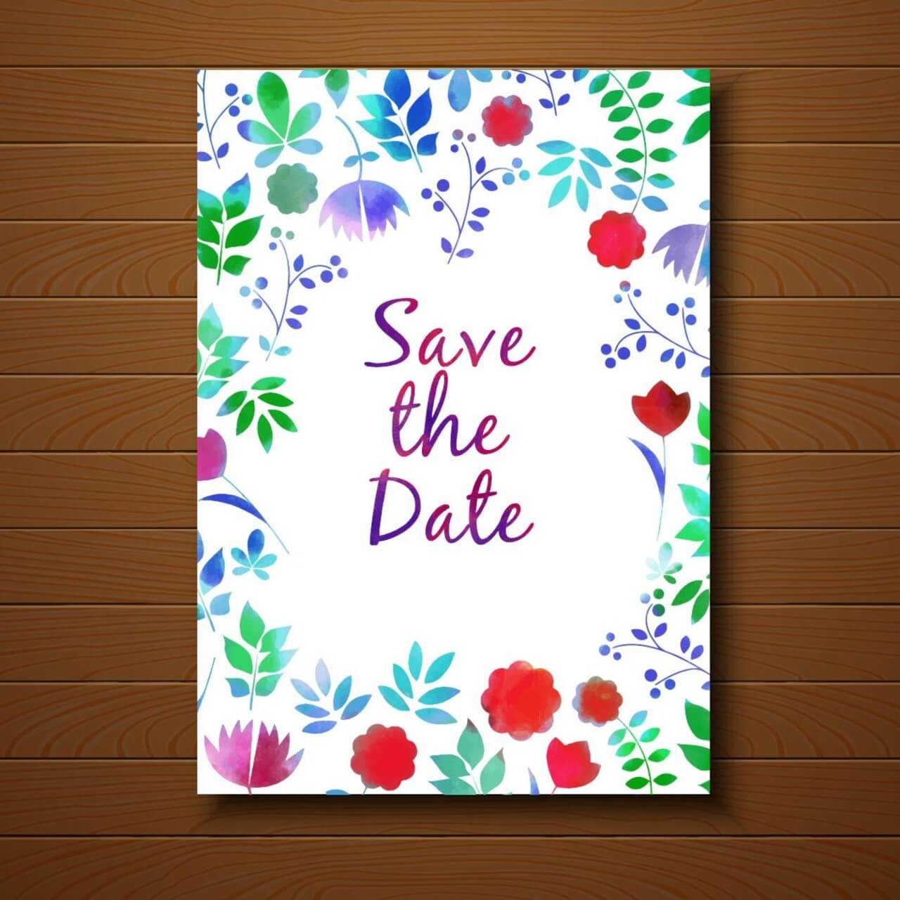 """Free vector """"Save the date"""""""