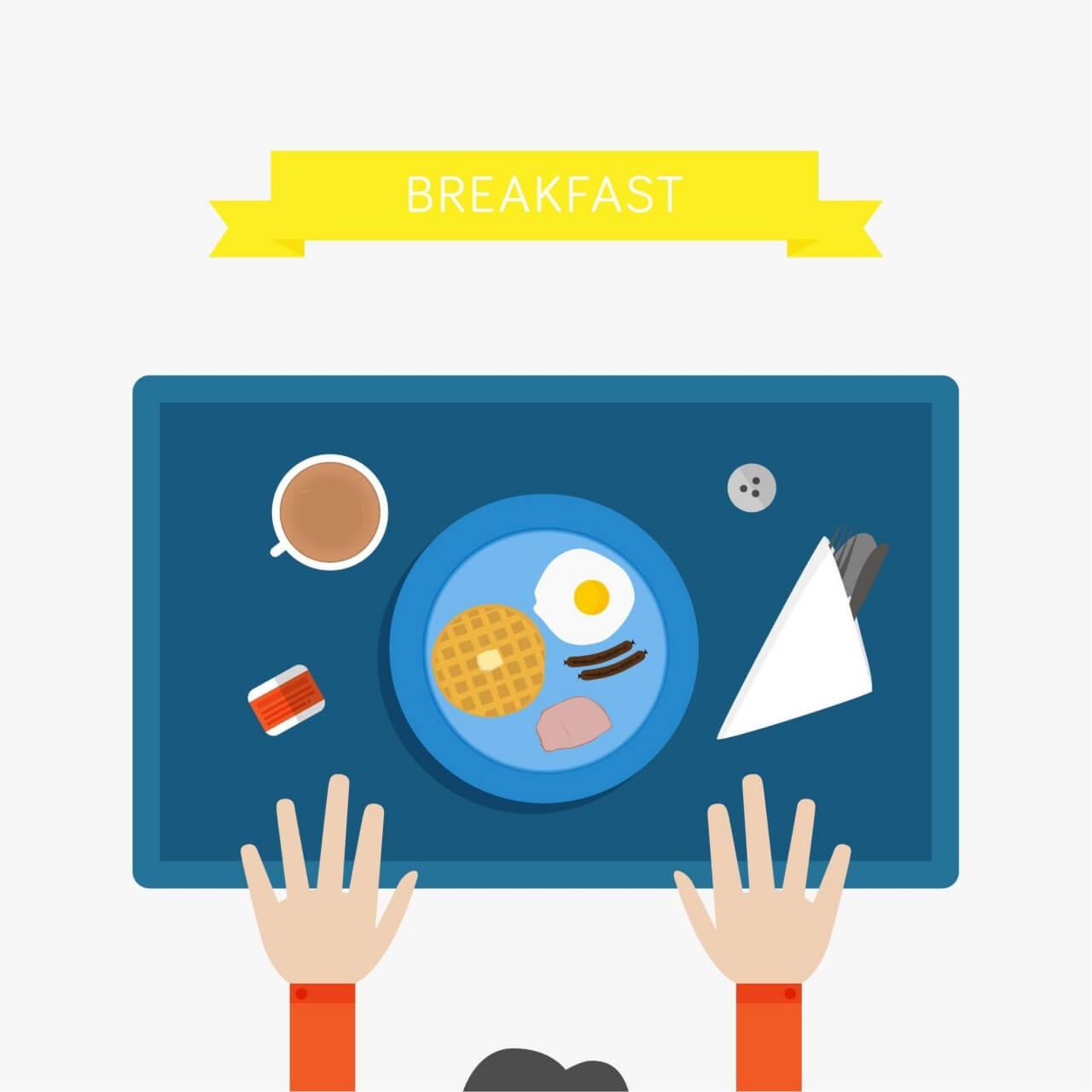 """Free vector """"Breakfast Illustration"""""""