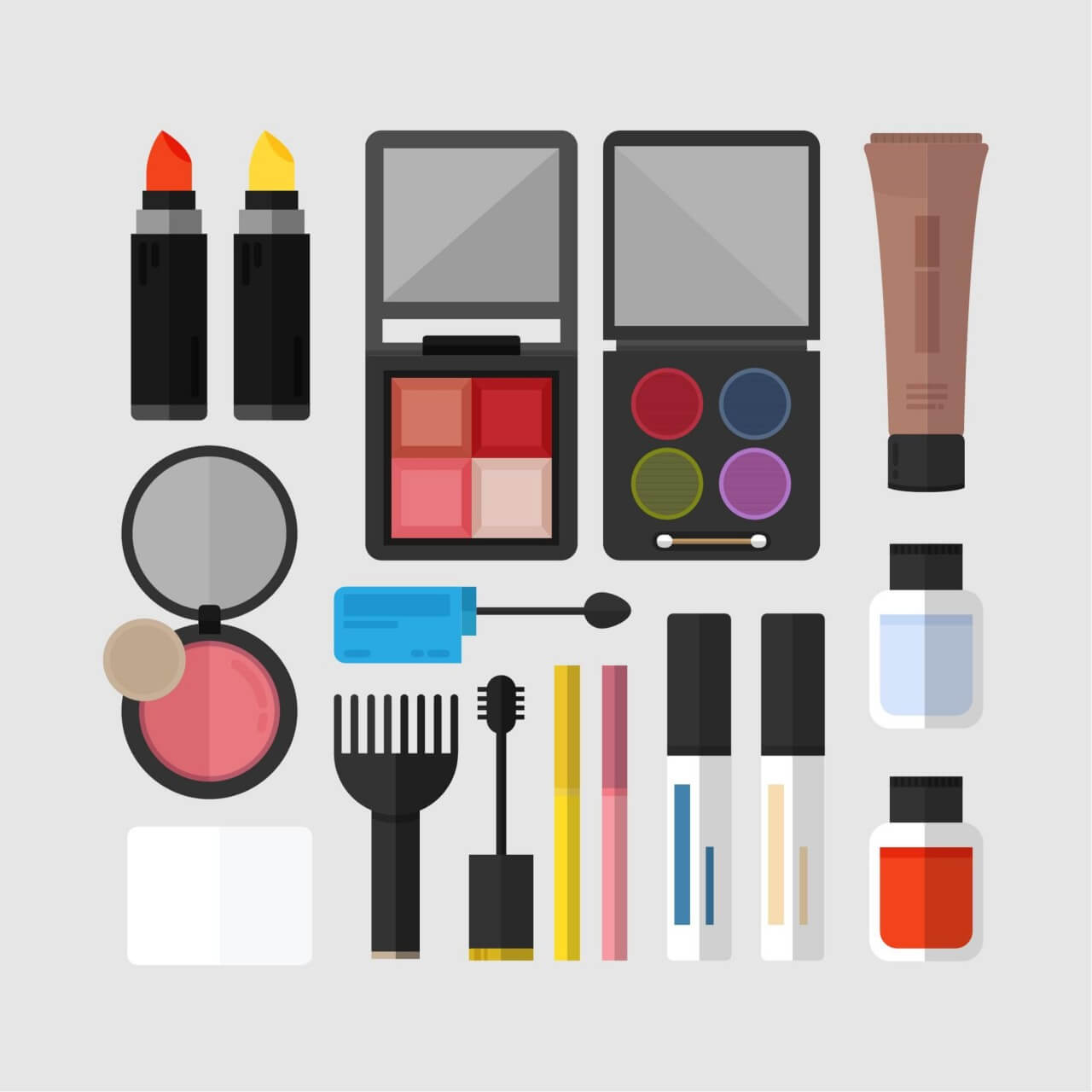 "Free vector ""Cosmetics Icons"""