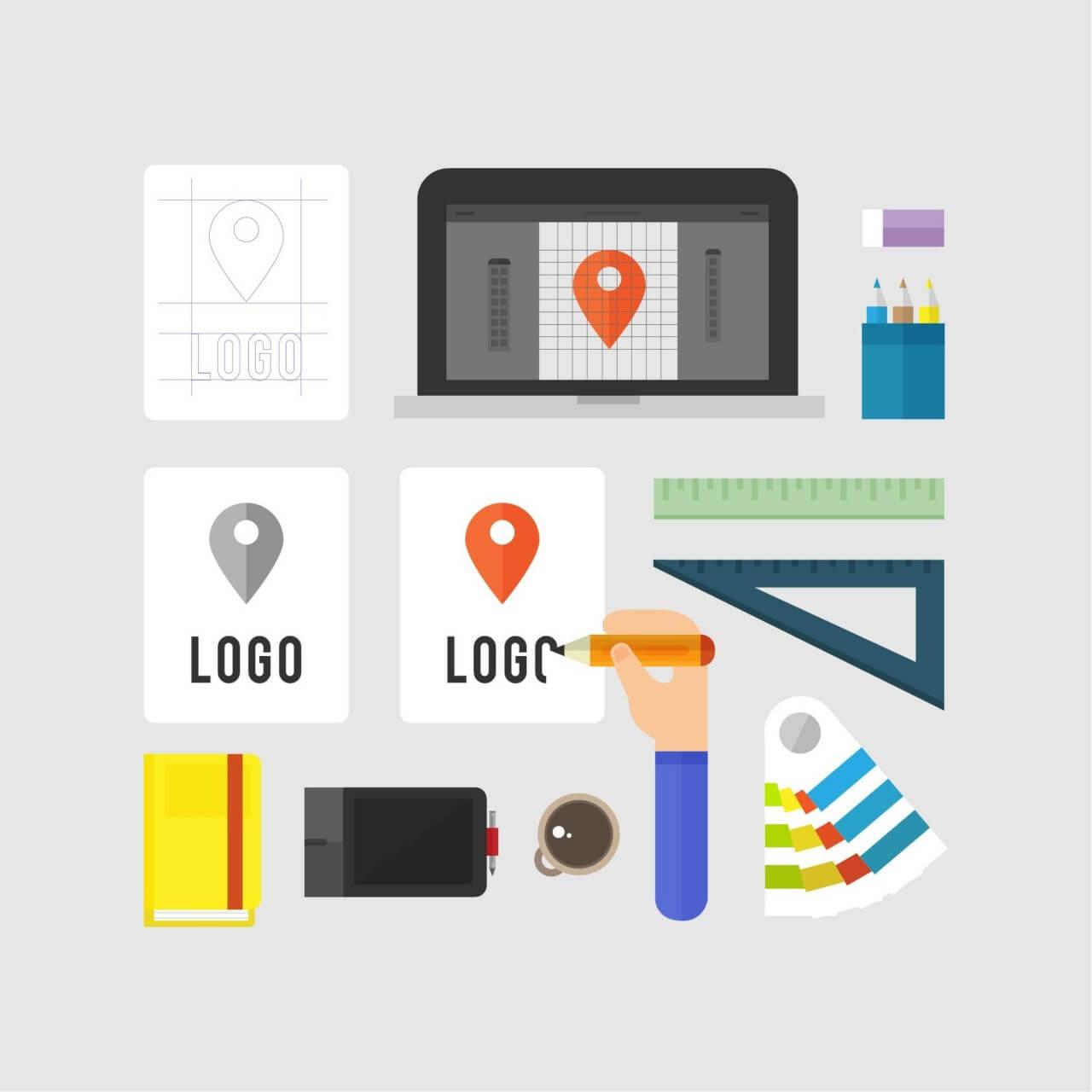 """Free vector """"Logo Design"""""""