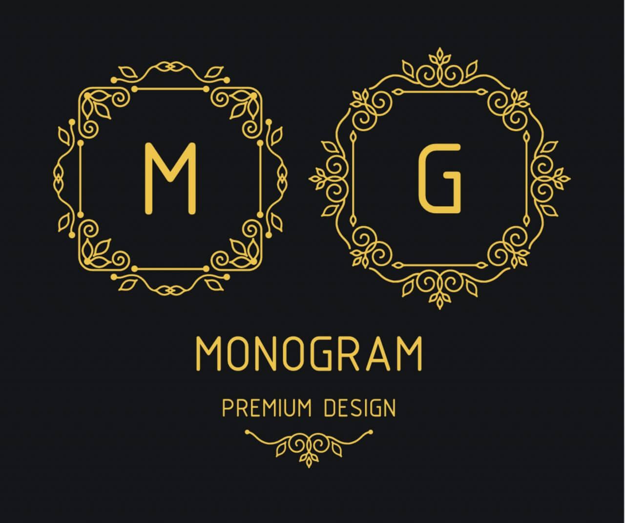 "Free vector ""Monogram design templates"""