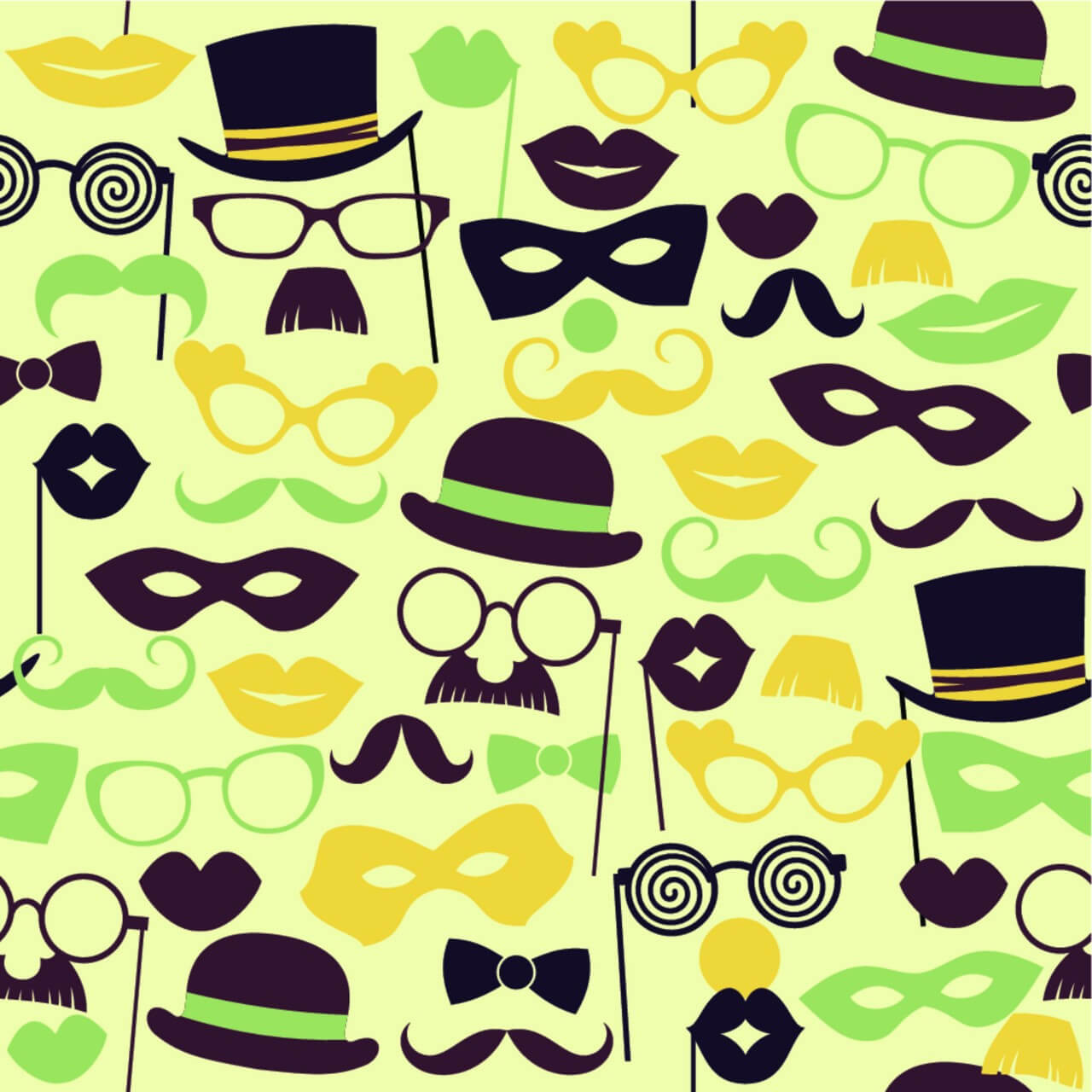 "Free vector ""Fun retro party. Seamless pattern."""