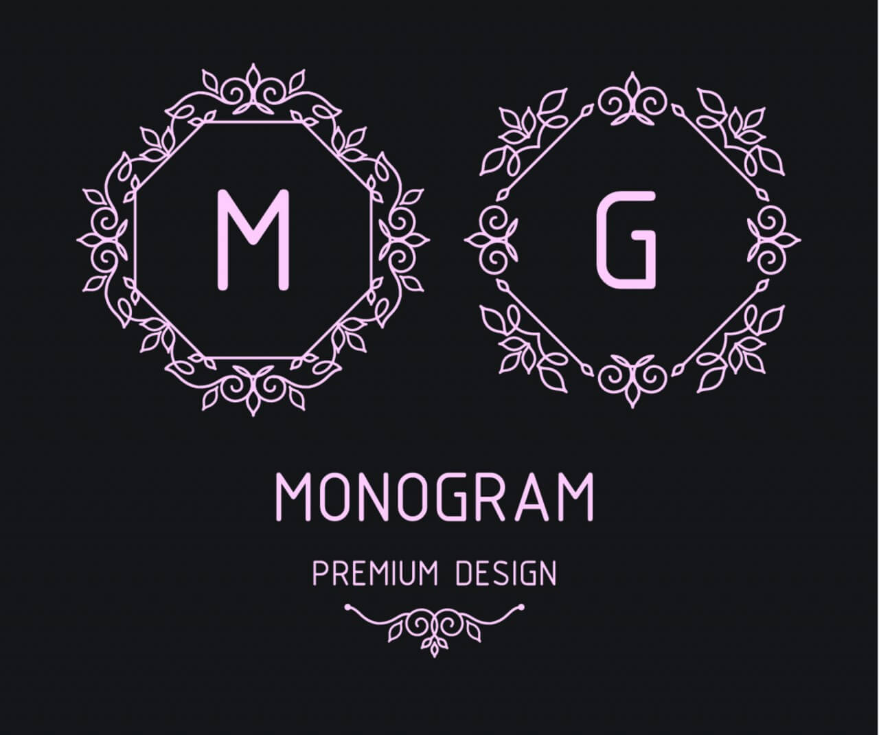 "Free vector ""Monogram design templates"""