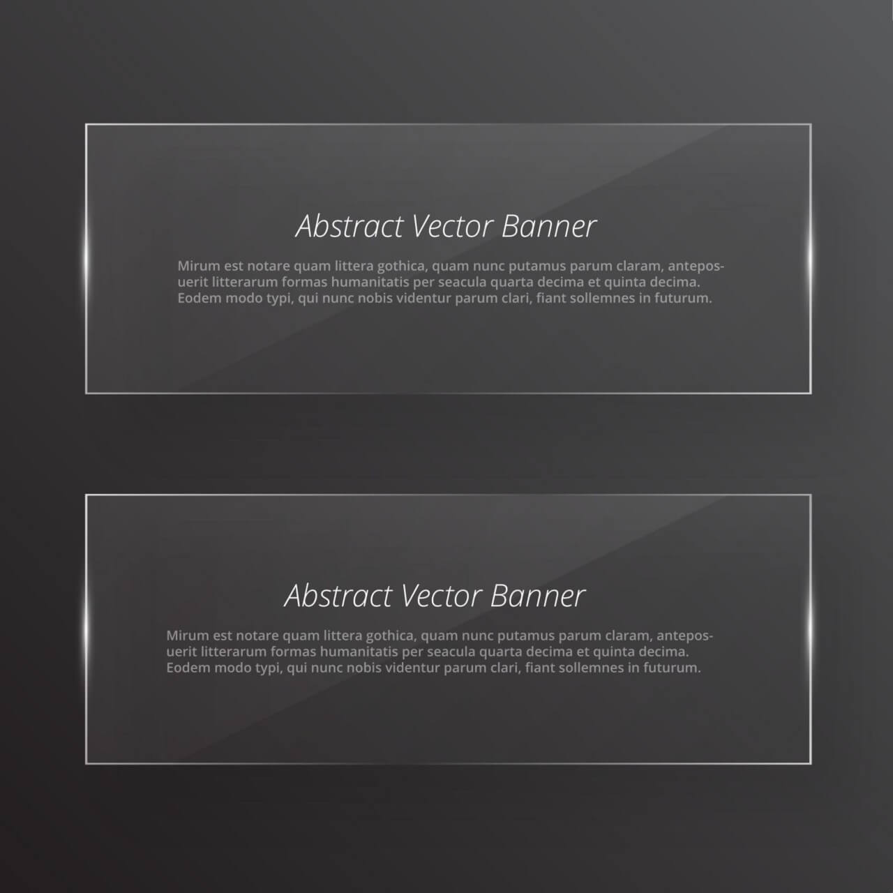 "Free vector ""Transparent glass abstract banners"""