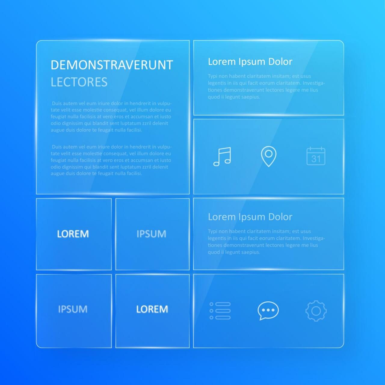 "Free vector ""Transparent, blue glassy user interface """