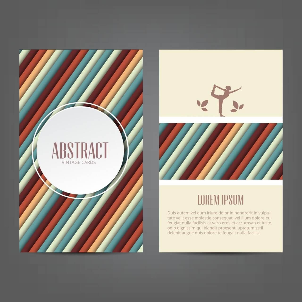 "Free vector ""Abstract yoga card"""