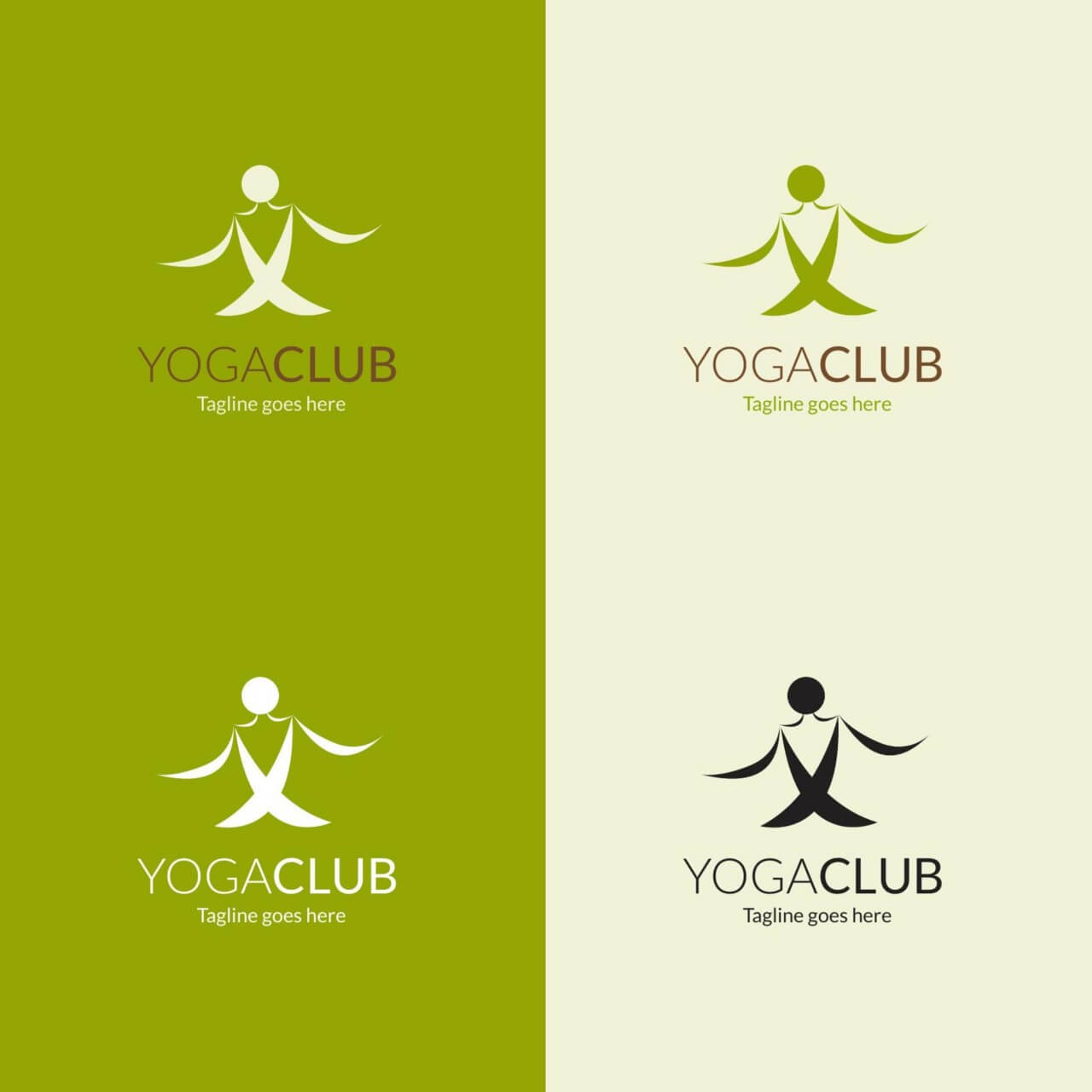 "Free vector ""Yoga pose vector logo"""