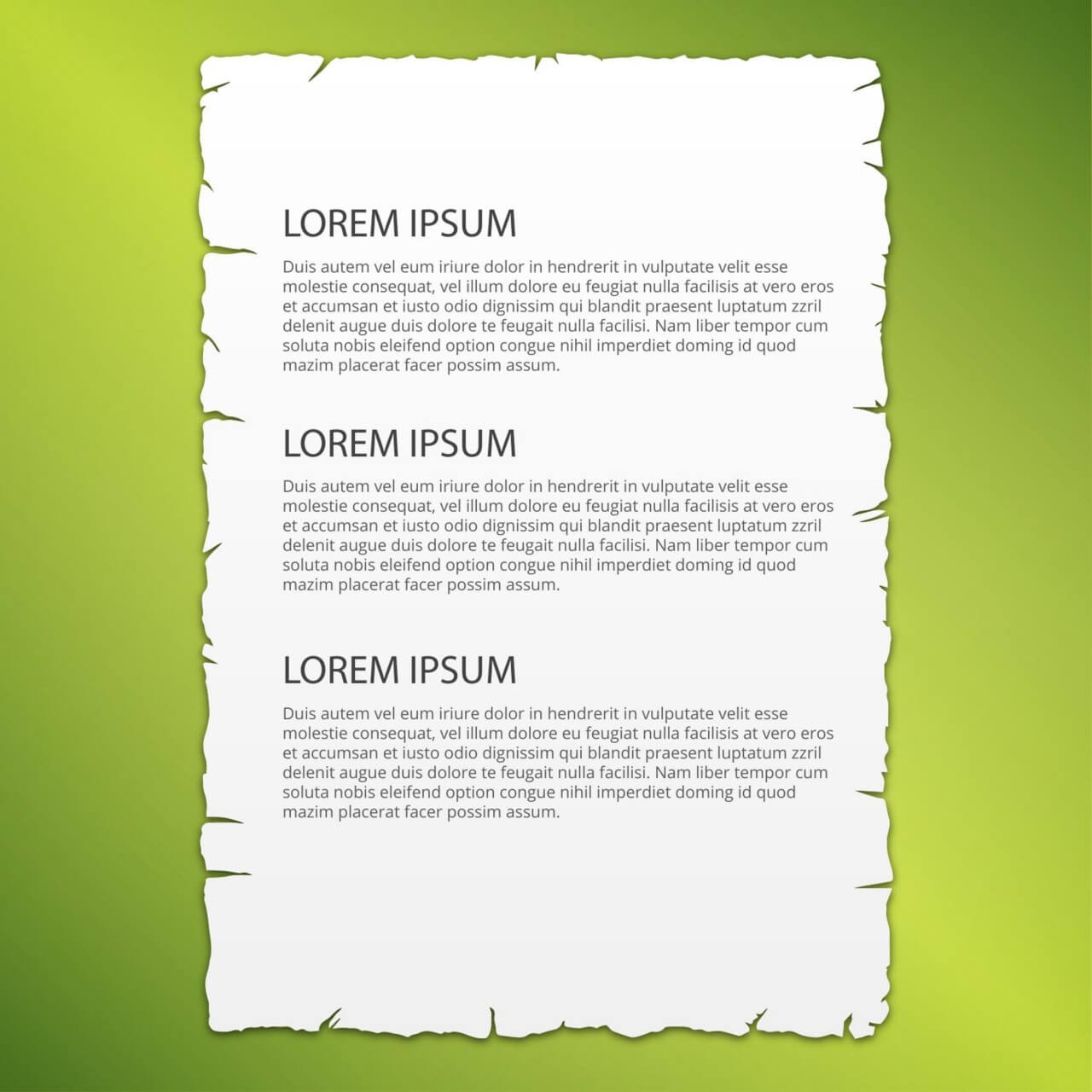 "Free vector "" Lacerated paper page, vector illustration"""
