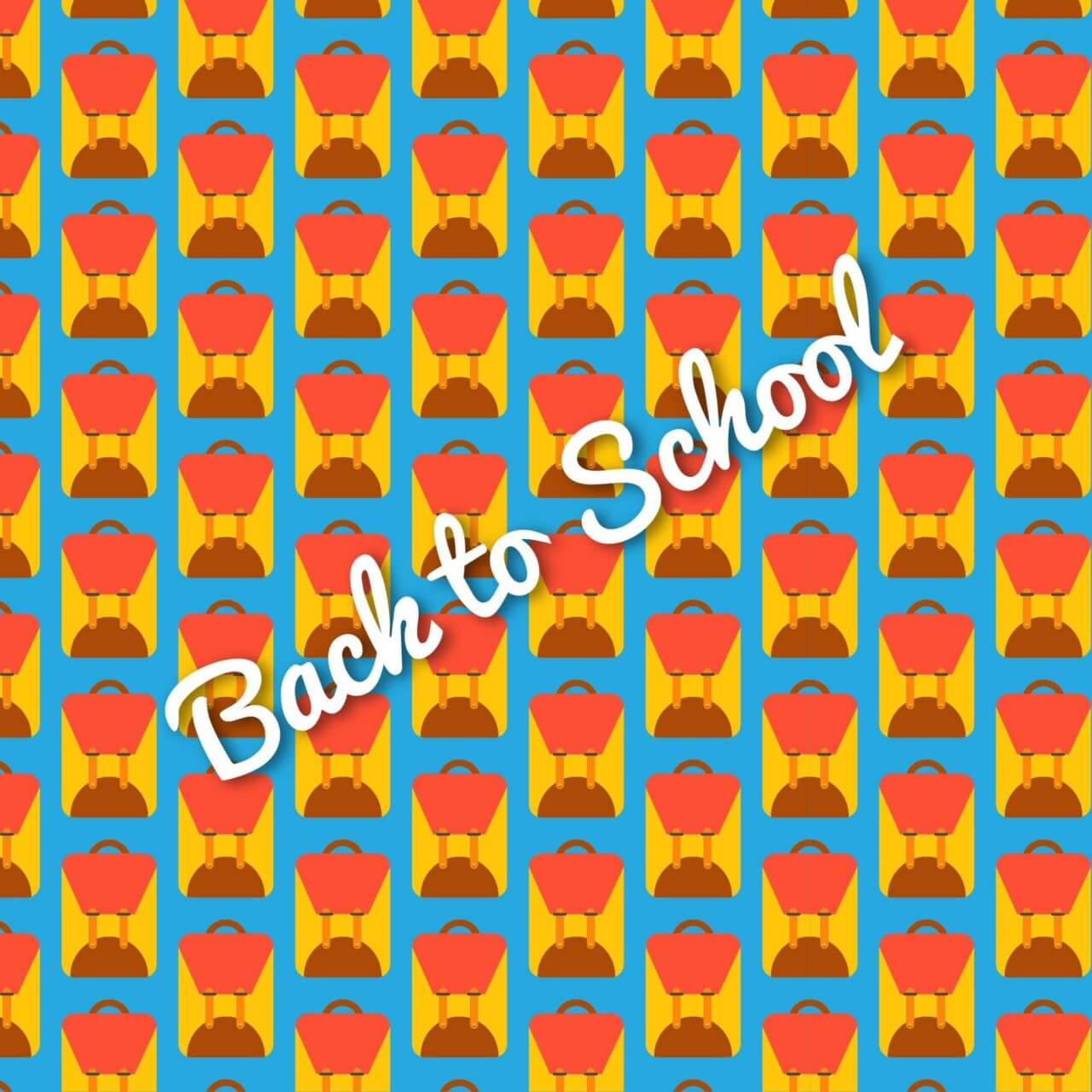 "Free vector ""School bag pattern, back to school"""
