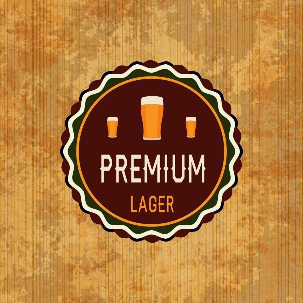 "Free vector ""Retro beer label on grunge background"""