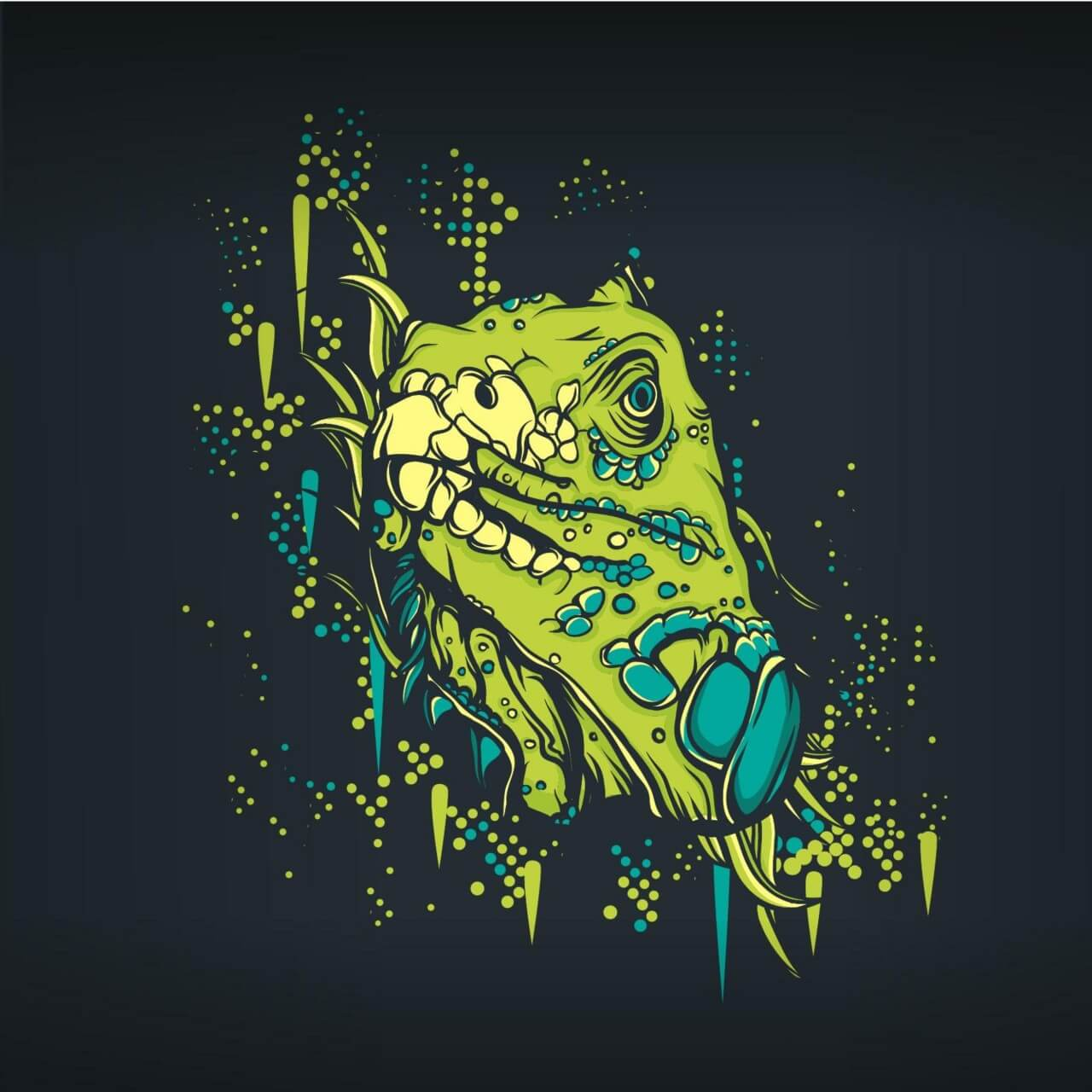 "Free vector ""Retro lizard """