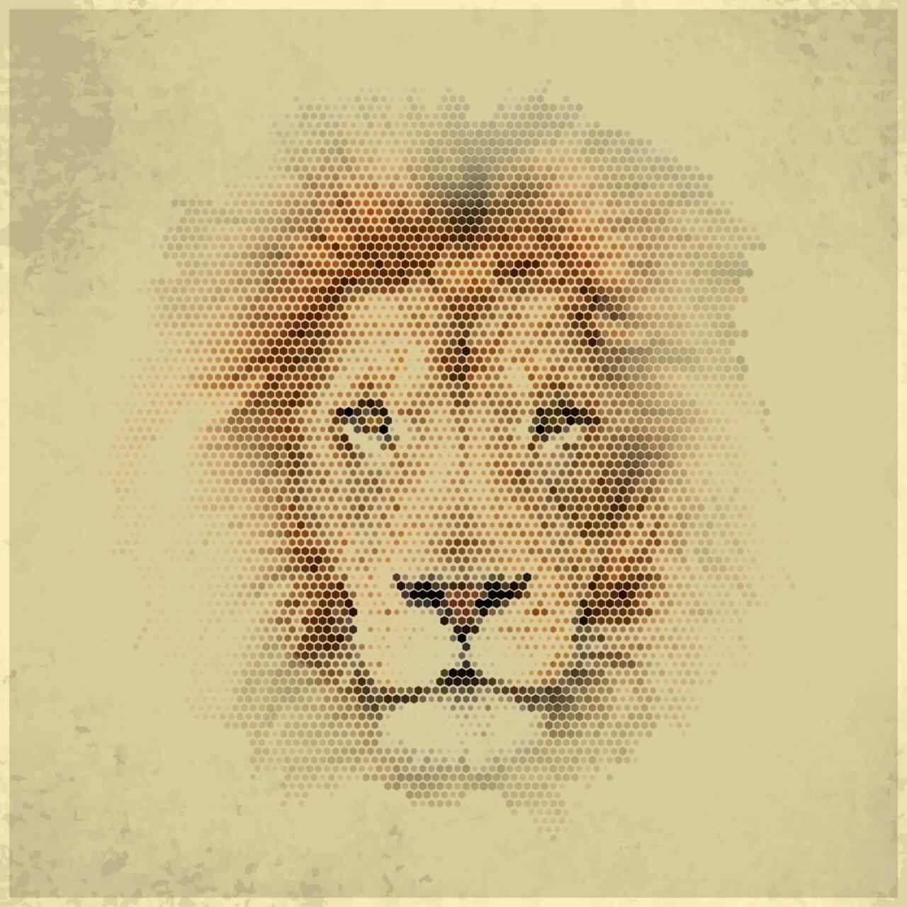 "Free vector ""Vintage geometric lion"""