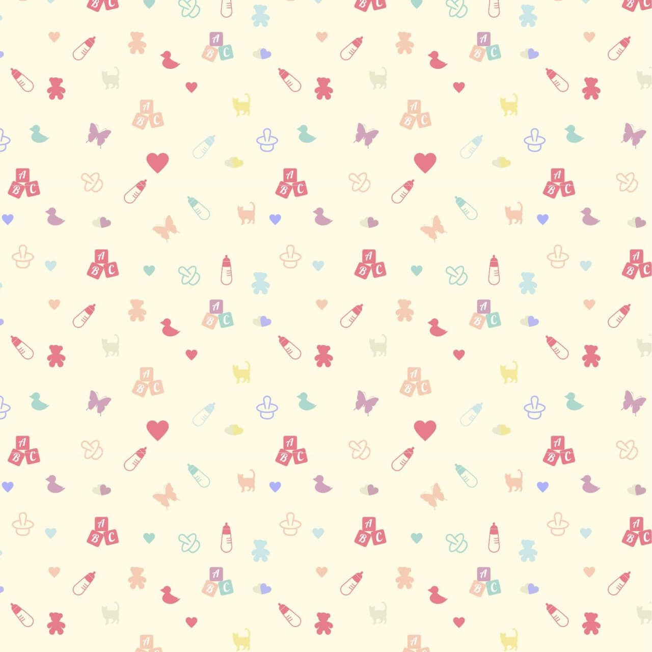 "Free vector ""Cute baby pattern"""