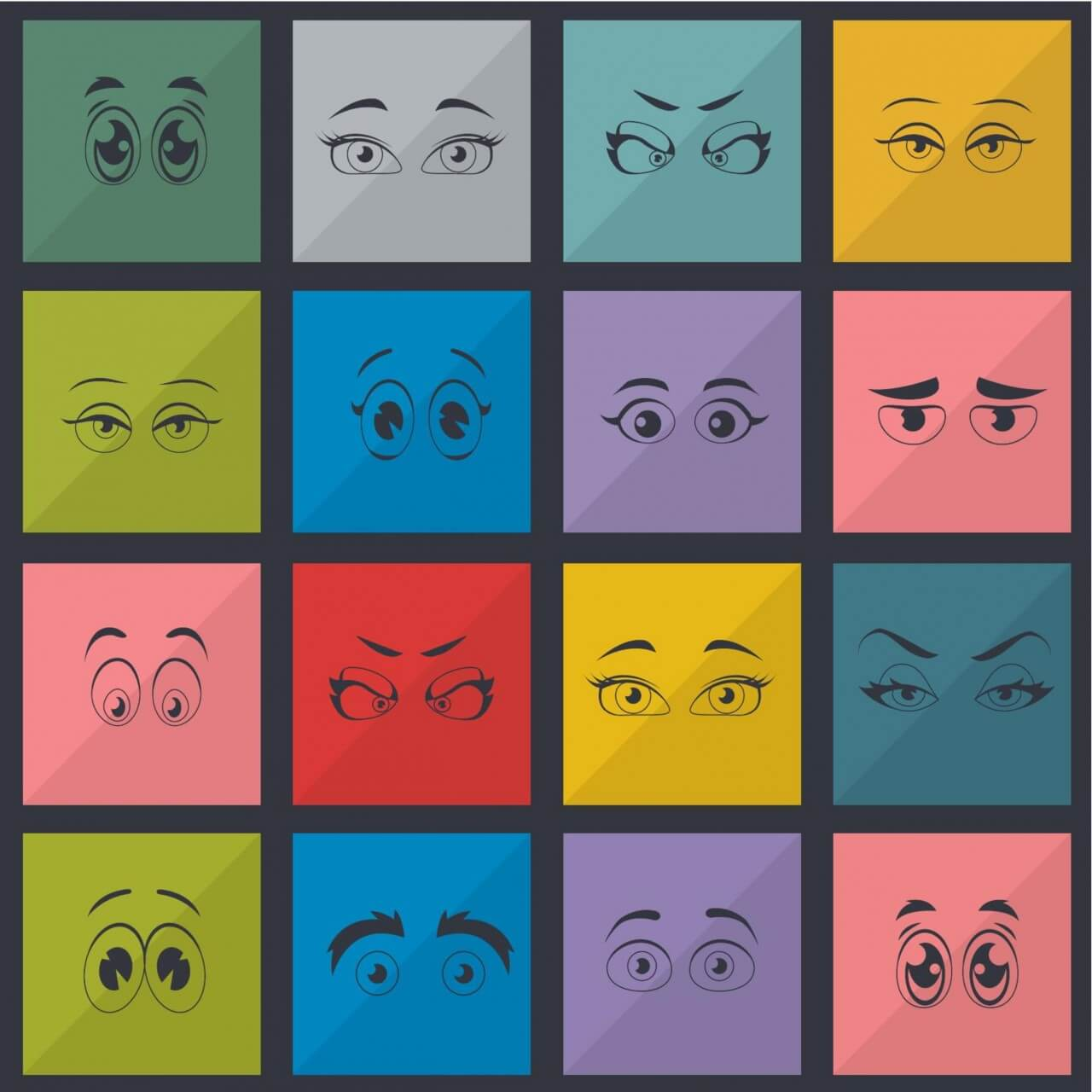 "Free vector ""Eyes vector set"""