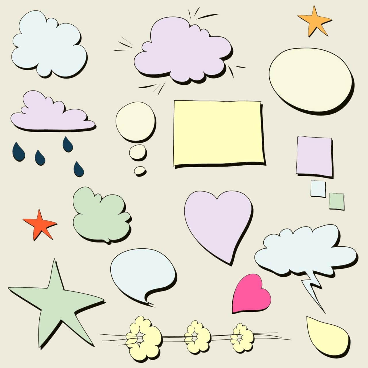 "Free vector ""Chat bubbles """