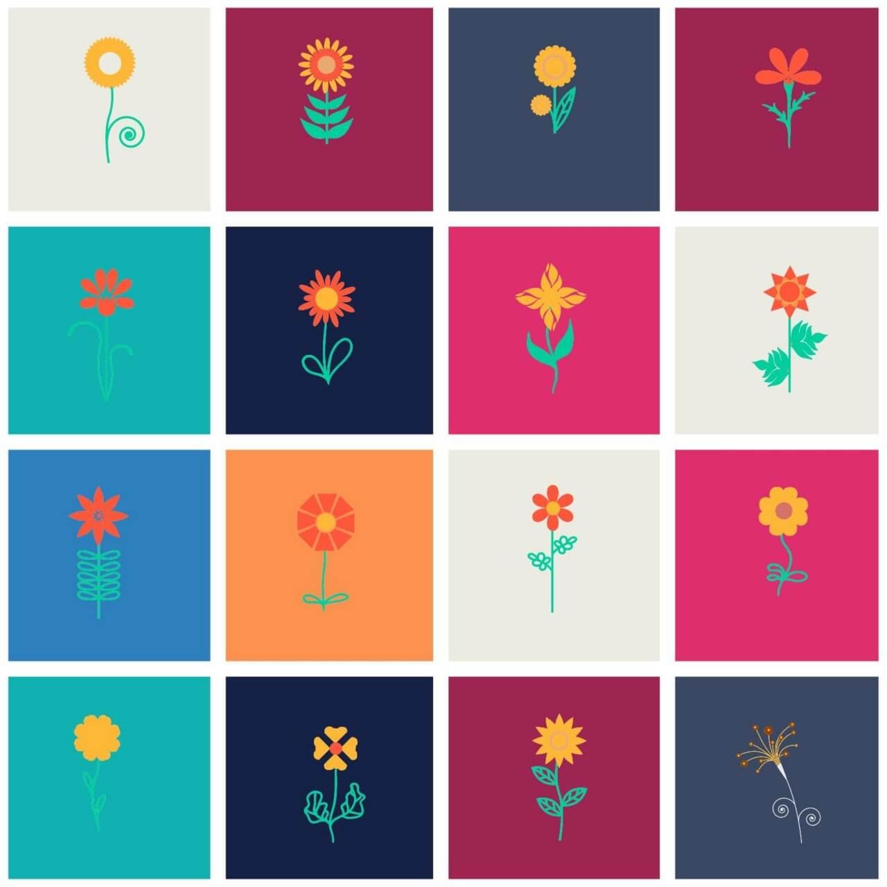 "Free vector ""Flower set"""