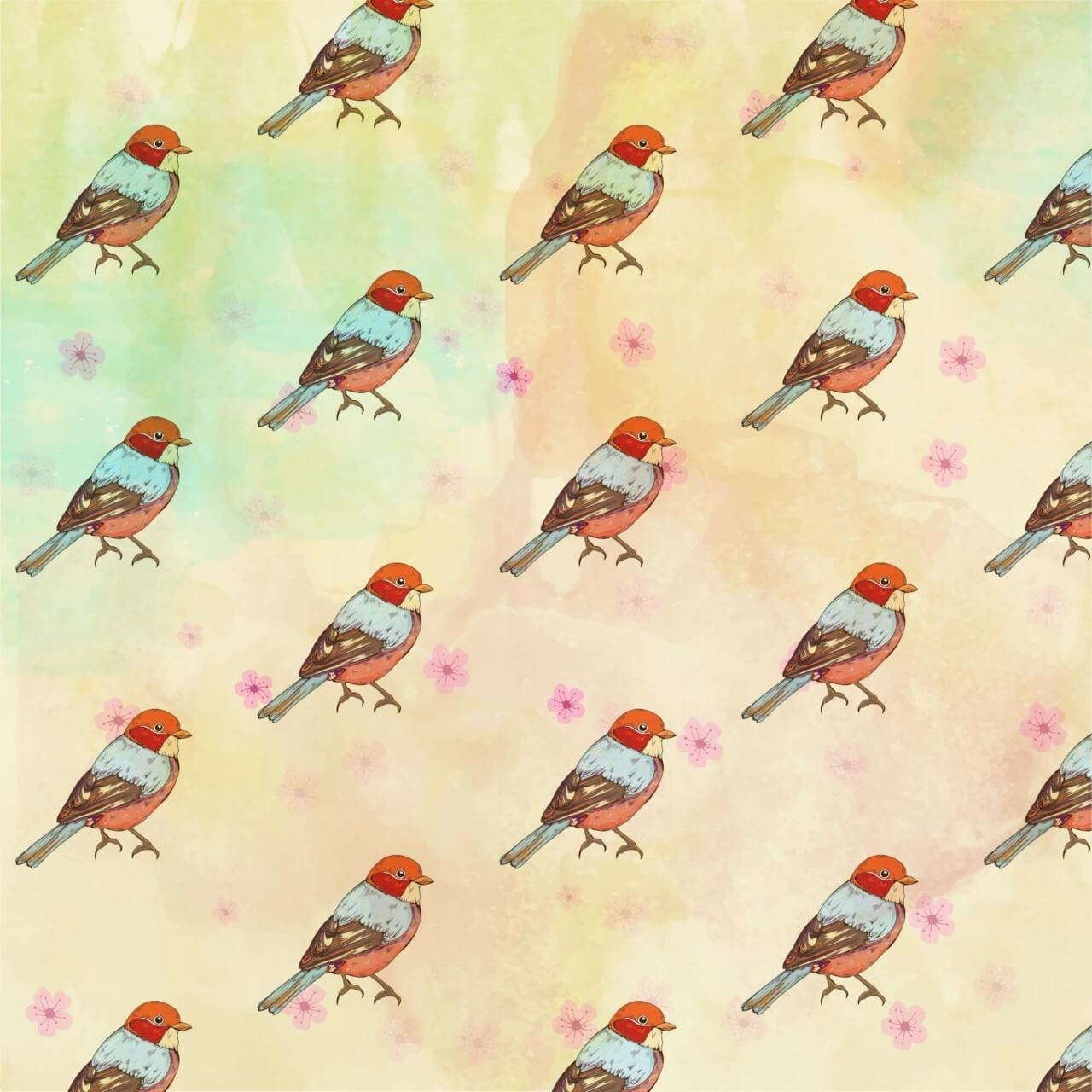 "Free vector ""Pattern with retro bird"""