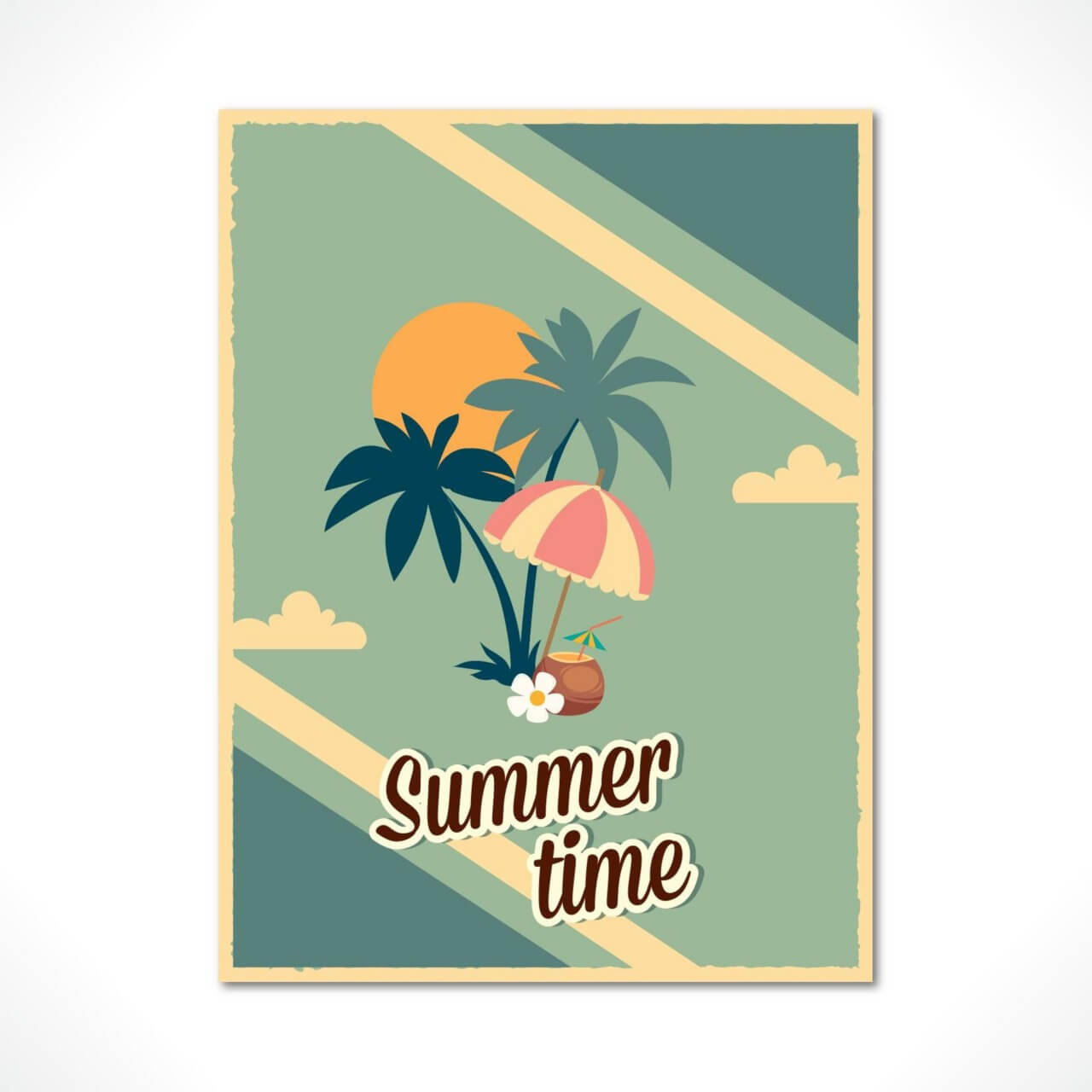 "Free vector ""Summer poster"""