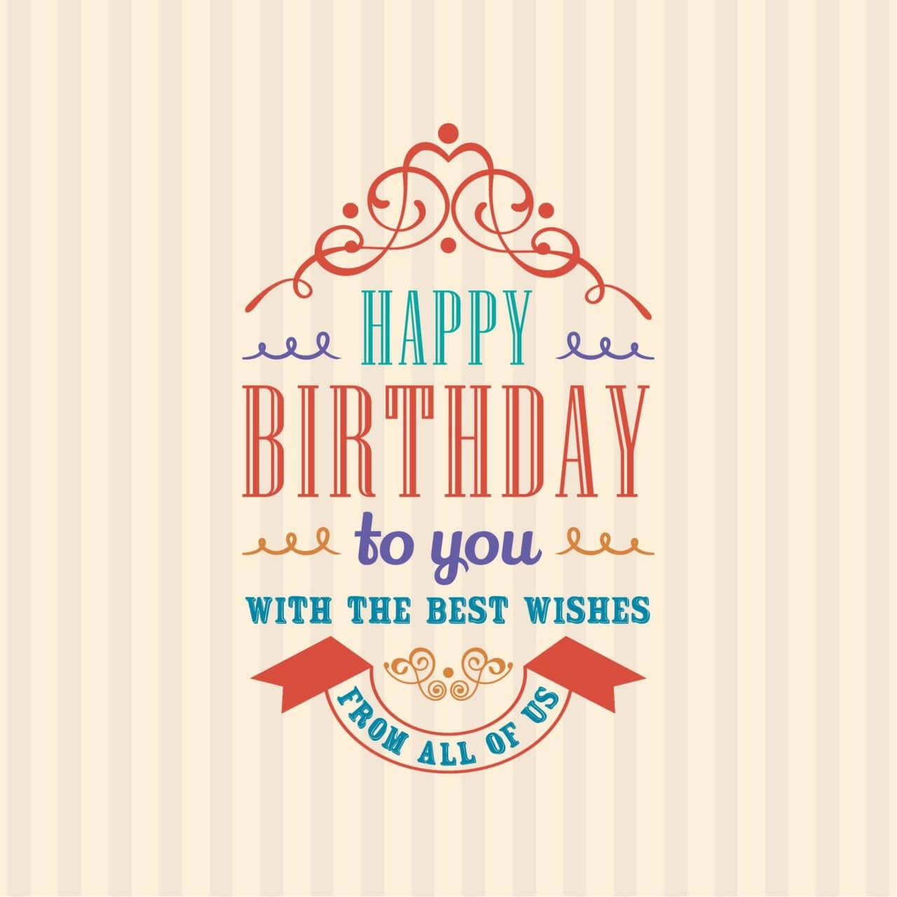 "Free vector ""Happy Birthday Invitation"""