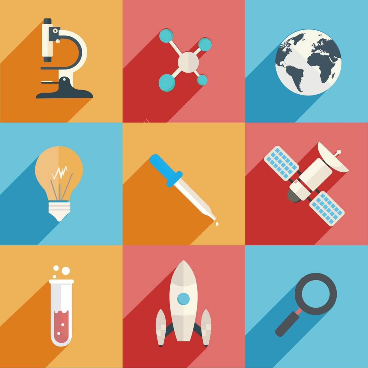 """Free vector """"Science and Technology Icons"""""""