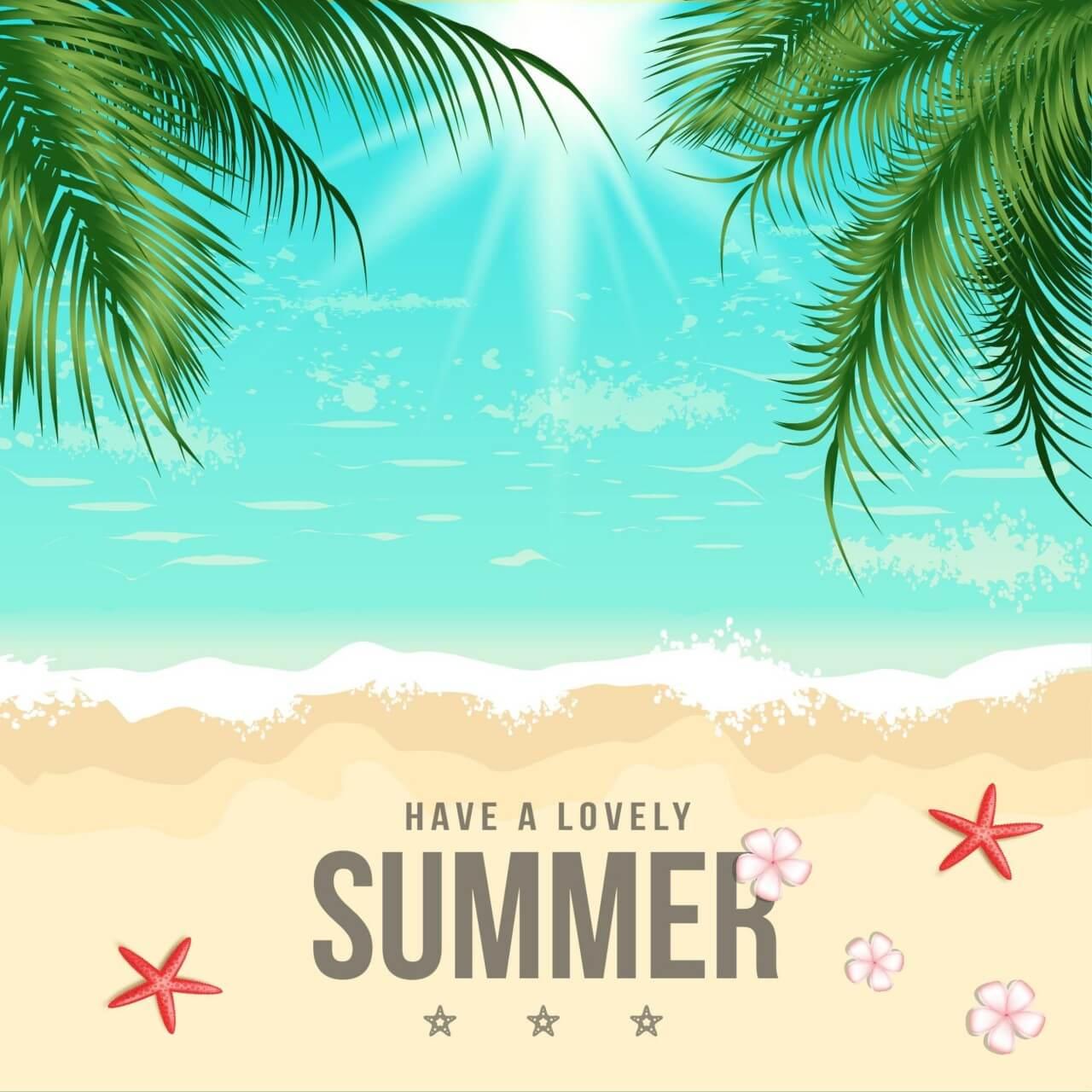 """Free vector """"Summer Beach Vector Illustration"""""""