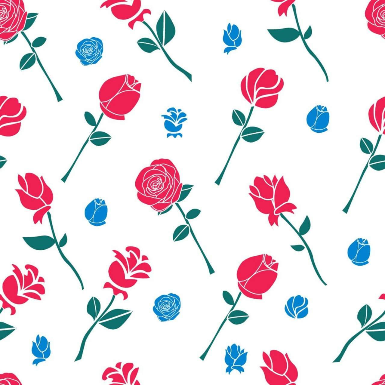 """Free vector """"Pattern with roses"""""""