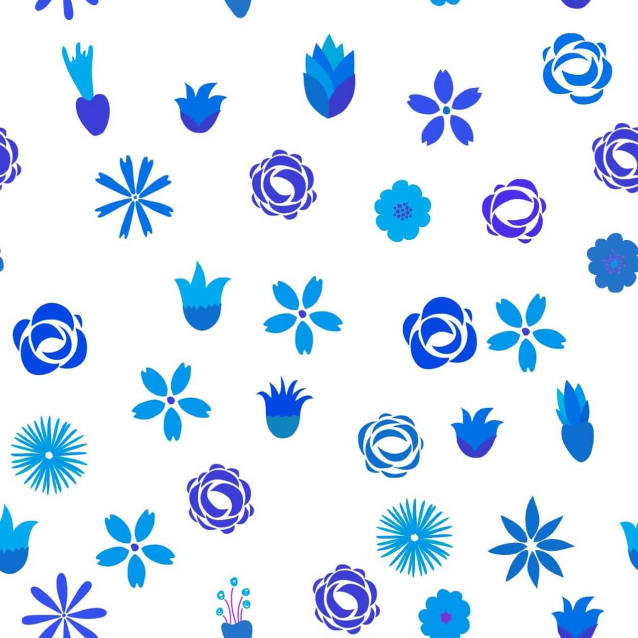 """Free vector """"Floral seamless pattern"""""""