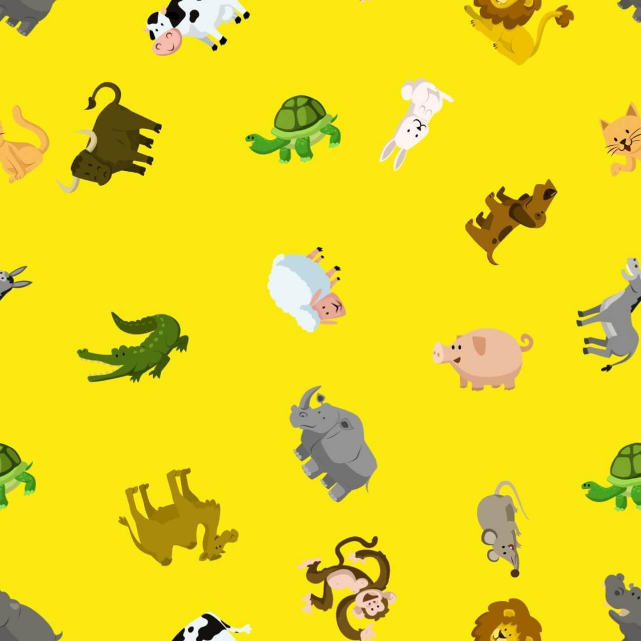 "Free vector ""Pattern with animals"""