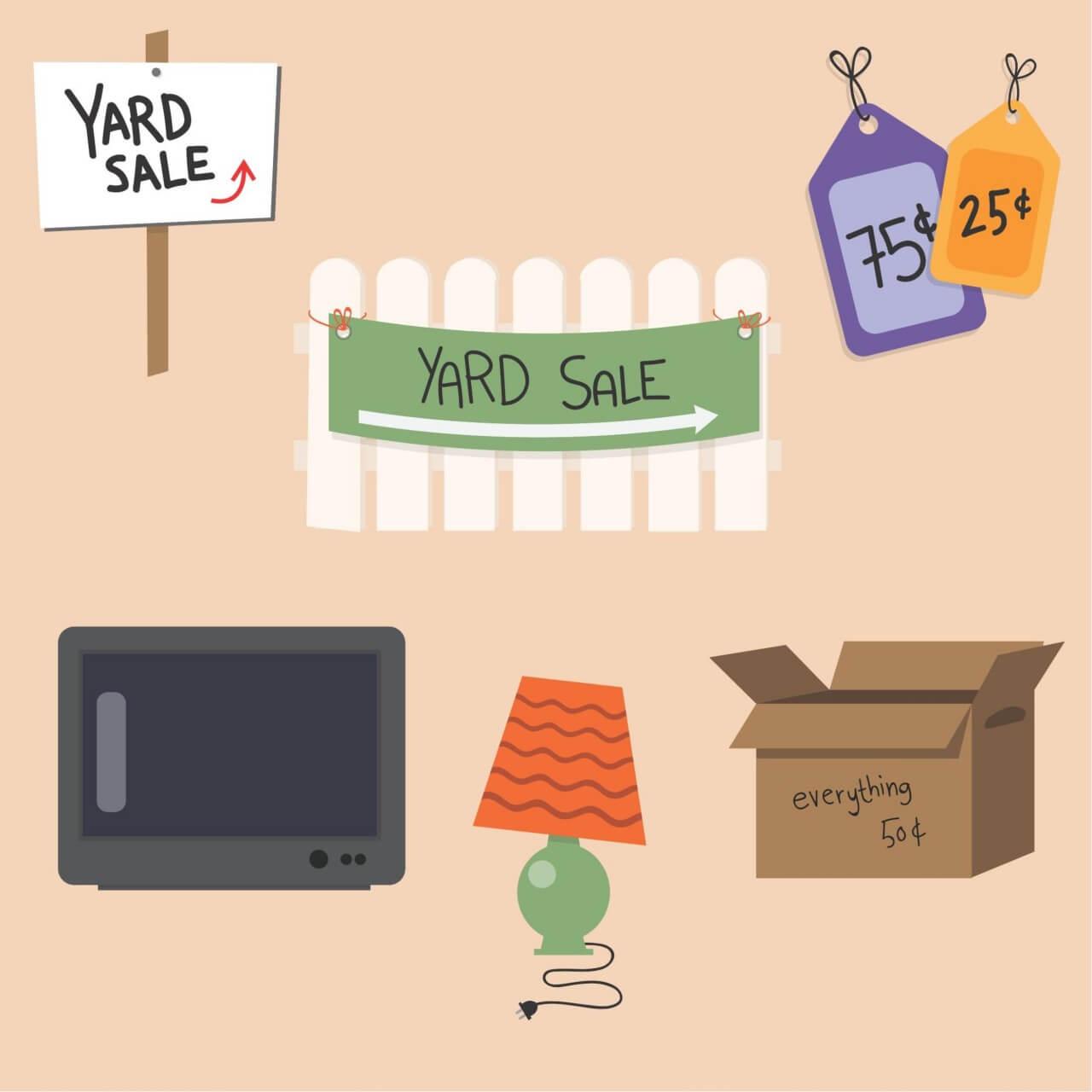 "Free vector ""Yard Sale Vector Set"""