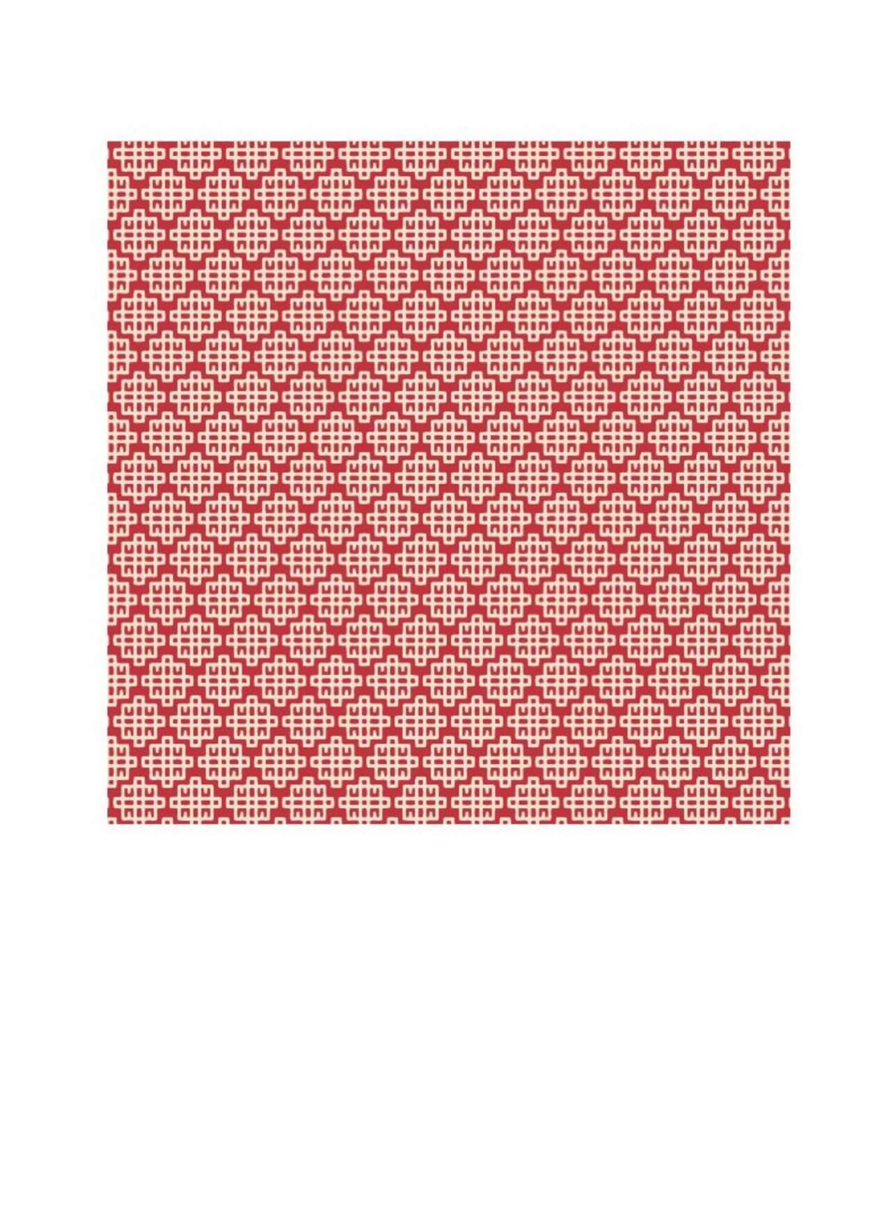 "Free vector ""Asian Red and White Geometric Pattern"""