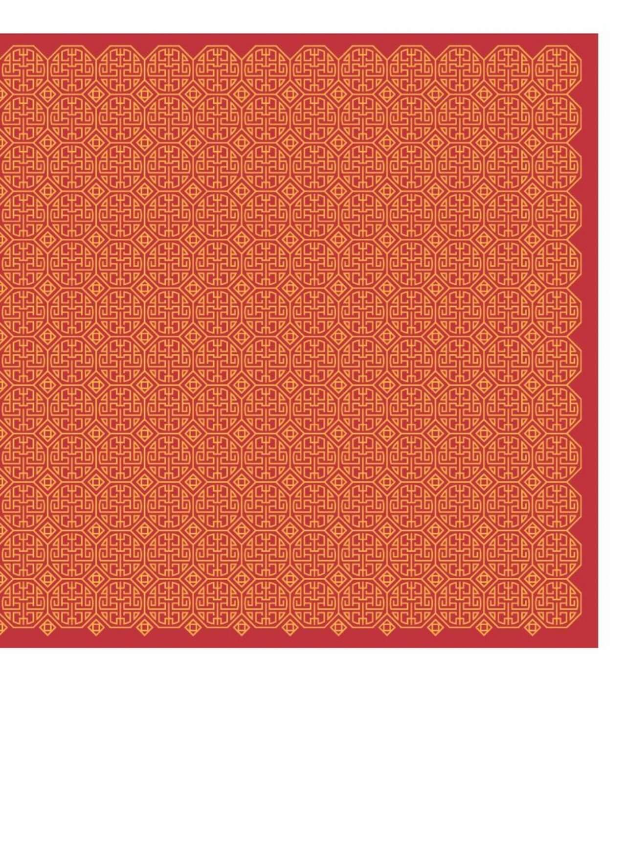 "Free vector ""Asian Yellow and Red Pattern"""