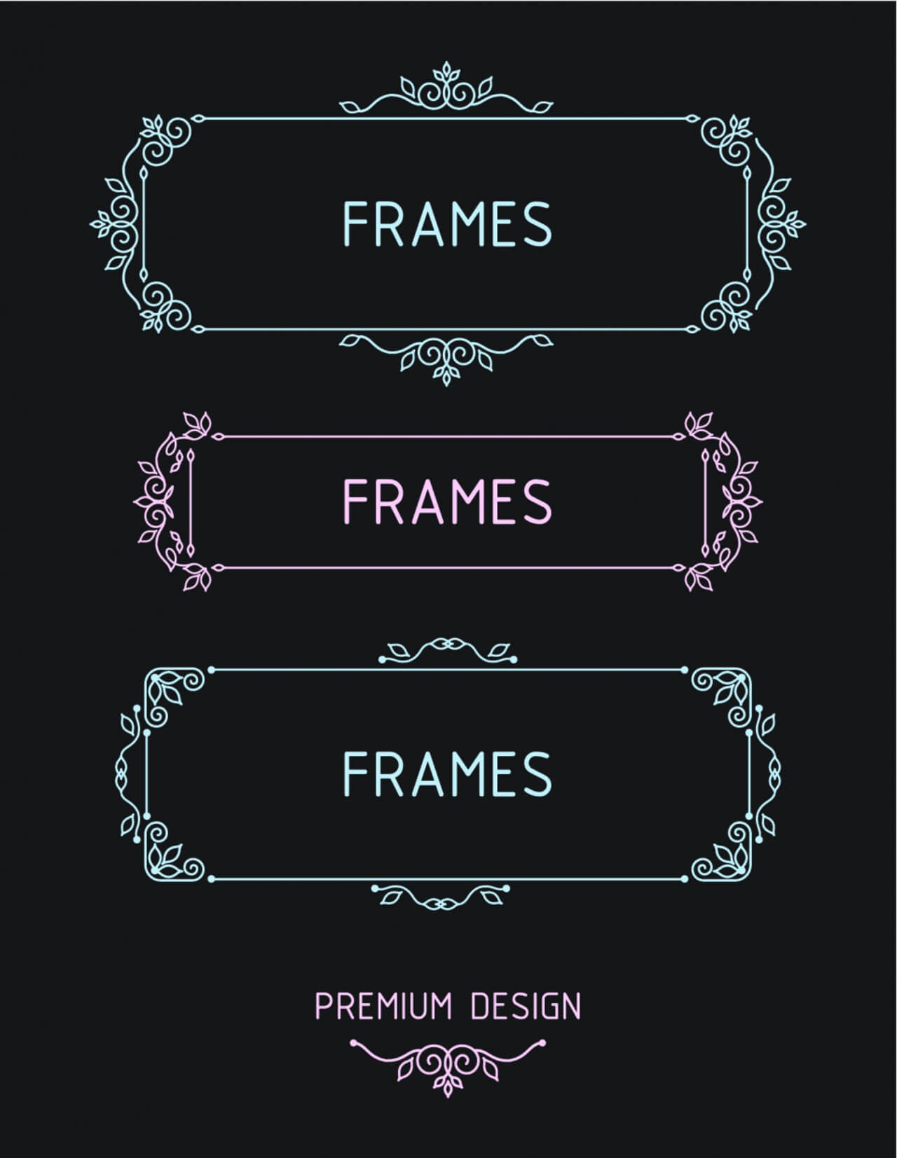 "Free vector ""Vector outline frames. Elements design templates."""