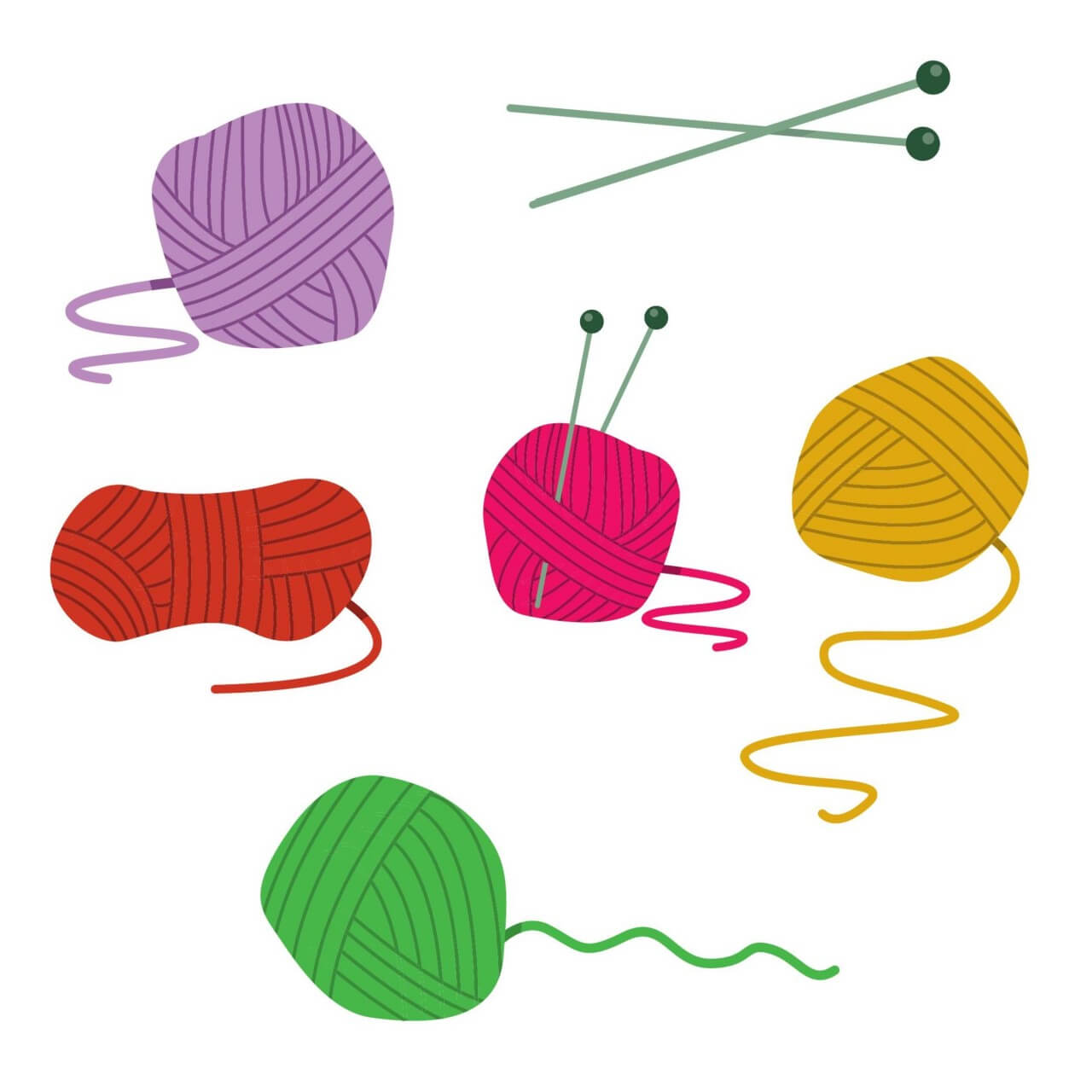 "Free vector ""Colorfull Ball Of Yarn Vectors"""