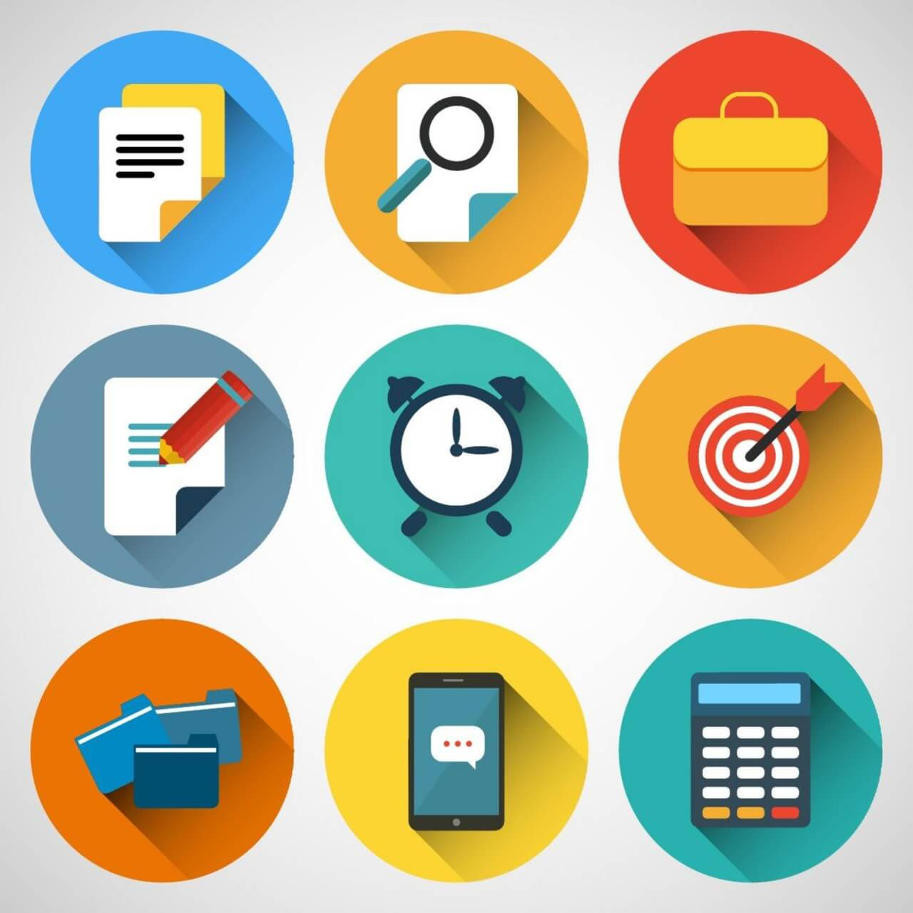 """Free vector """"Business icons"""""""