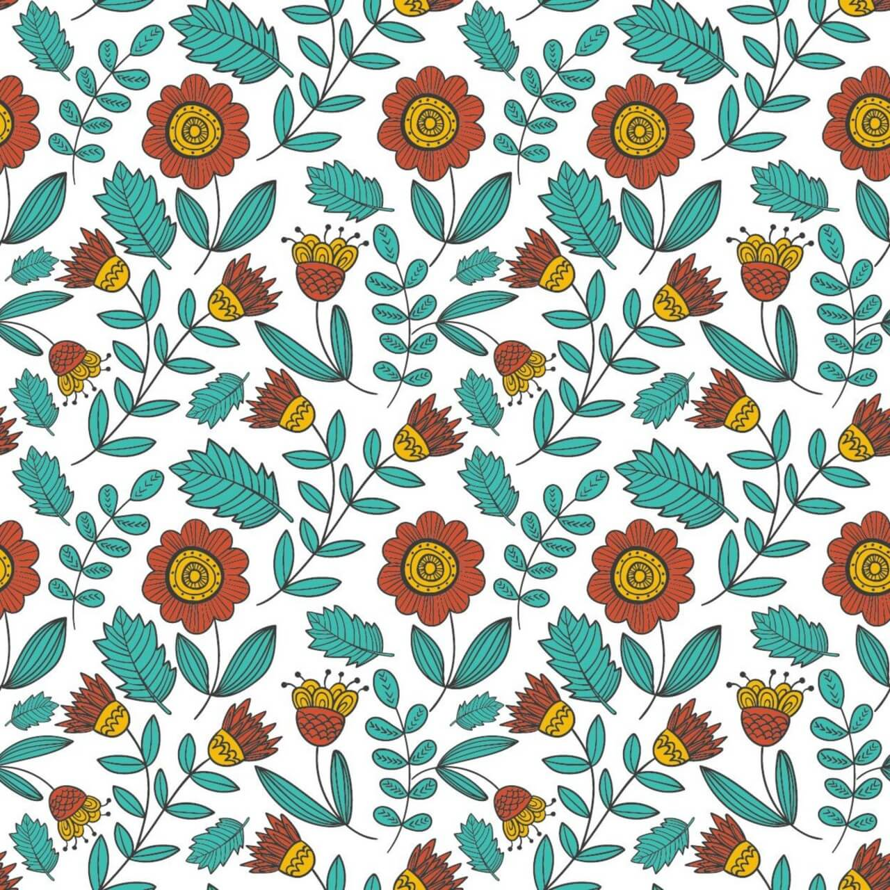 "Free vector ""Floral pattern"""