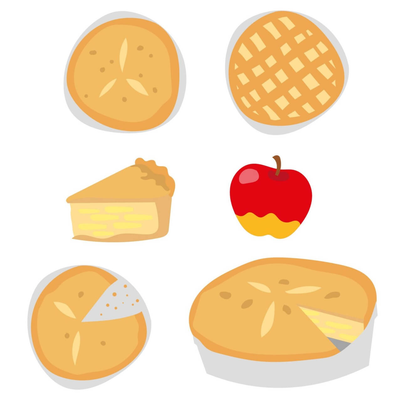 "Free vector ""Delicious Apple Pie Vectors"""