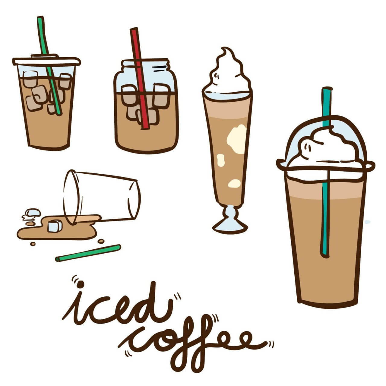 "Free vector ""Iced Coffee Vector"""